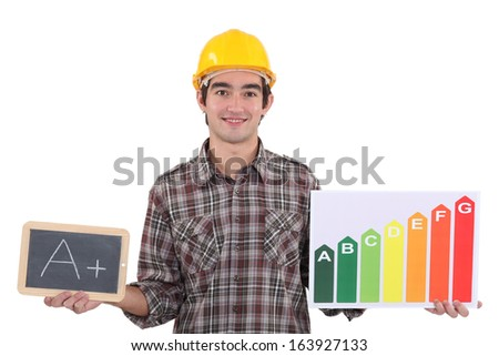 Energy rating system - stock photo