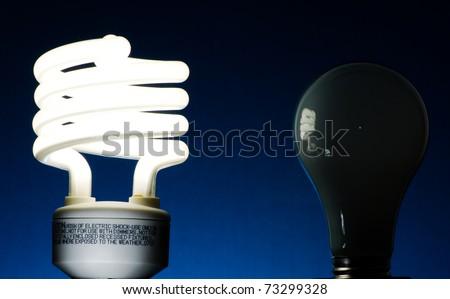 Energy Saver Bulb - stock photo