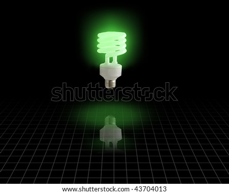 Energy Saver Bulb Idea - stock photo