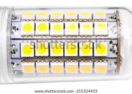 energy-saving LED lamp isolated on white background. - stock photo