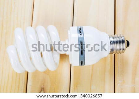 Energy saving light bulb - stock photo