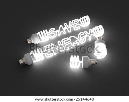 energy saving light. isolated. - stock photo