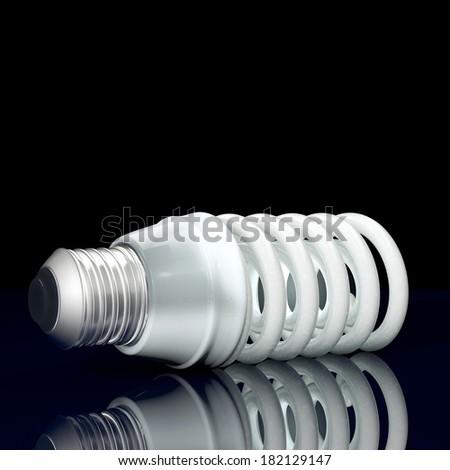 Energy savings lamp - 3d rendered illustration - stock photo
