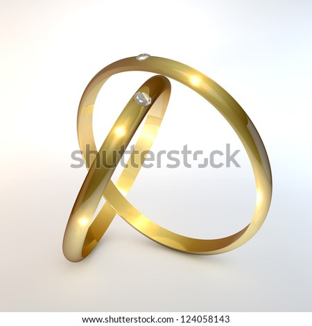 Engagement Rings - stock photo