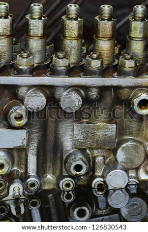 Engine and oil - stock photo