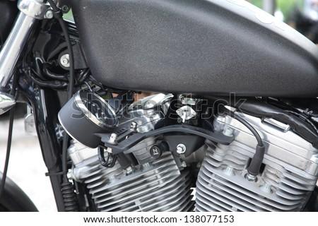 engine motorcycle accessories motorcycle biker - stock photo