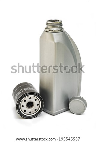 Engine oil and oil filter  - stock photo