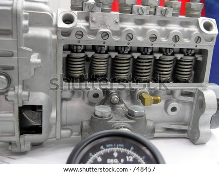 Engine Parts, Fuel Injection Pump - stock photo