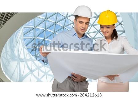Engineer, Construction, Architect. - stock photo