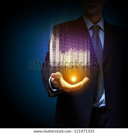 Engineering automation building designing. Construction industry technology - stock photo
