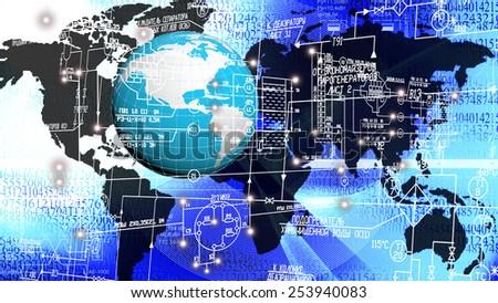 Engineering industrial technologies - stock photo