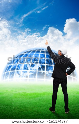 Engineering looking for the future : Elements of this image furnished by NASA - stock photo