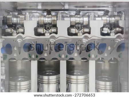Engines, parts, engines show - stock photo