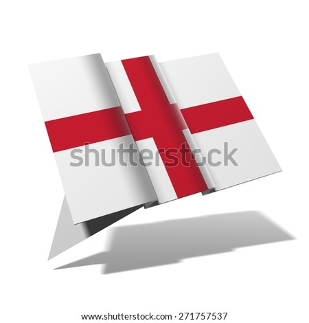 England flag 3D banner - stock photo