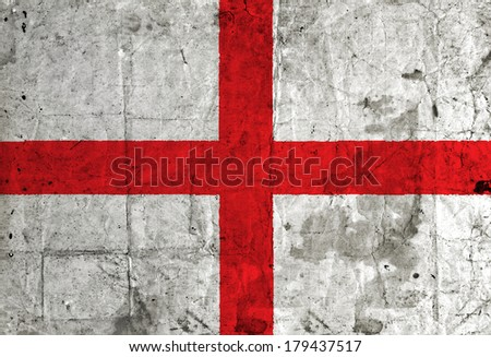England flag on grunge paper  - stock photo
