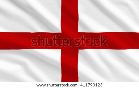 England national flag on the fabric texture background - stock photo