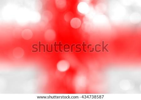 ENGLAND : National flag. Soft blurred bokeh natural background. Abstract gradient desktop wallpaper. - stock photo