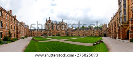 England Oxford University College High School - stock photo