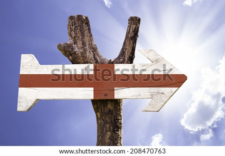 England wooden sign on a beautiful day  - stock photo