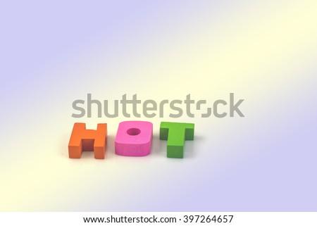 English alphabet, H.O.T.  vintage background - stock photo