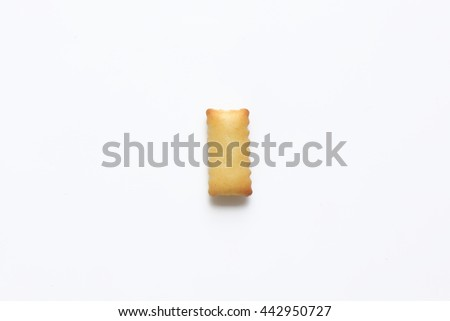English alphabet made from bread.Letters of the British alphabet made of gingerbread. The letter i - stock photo