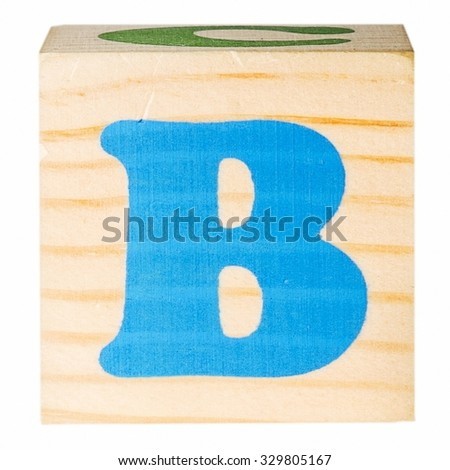 English alphabet, the letter B isolated on a white background - stock photo