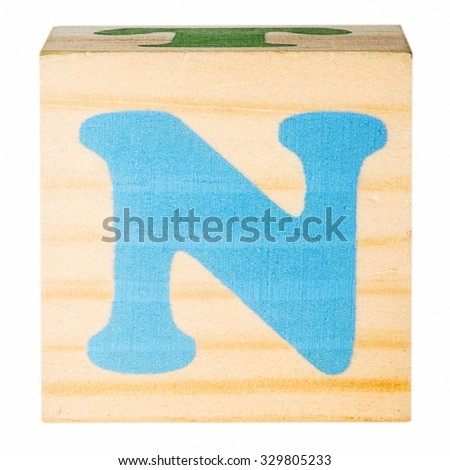 English alphabet, the letter N isolated on a white background - stock photo
