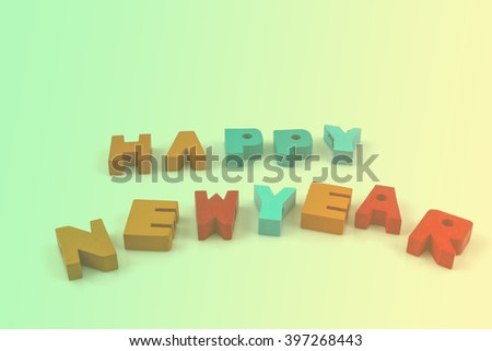 English alphabet to write the new year vintage for background - stock photo