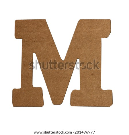 English alphabet with brown paper texture. - stock photo