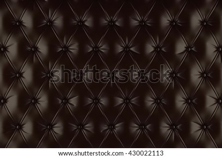 English brown genuine leather upholstery, chesterfield style background. 3D rendering - stock photo