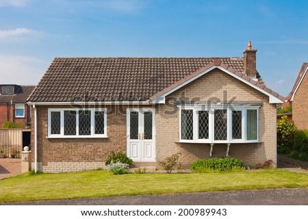 English bungalow house - stock photo