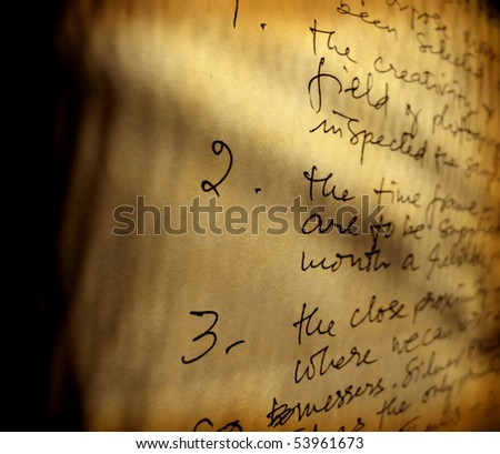 English business letter with handwriting - stock photo