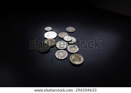 English currency, coin - stock photo