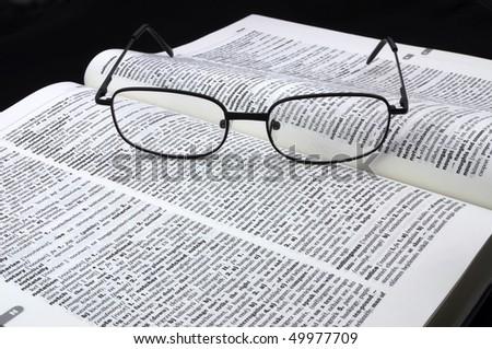 English dictionary - stock photo