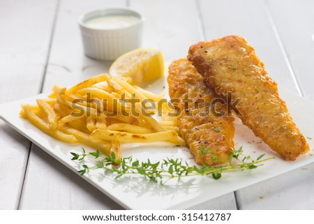 English food , Fish and chips  - stock photo