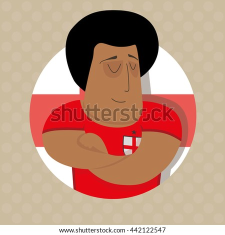 English football player  - stock photo
