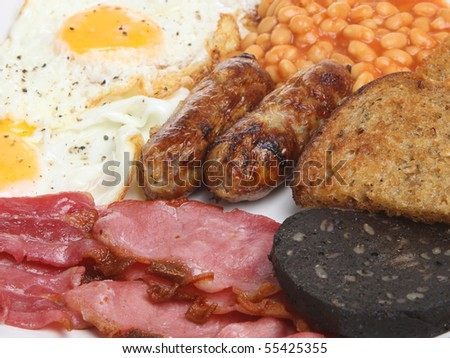 English fried breakfast - stock photo