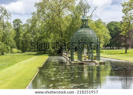 Chateau de chantilly stock photos images pictures for Jardin anglais chantilly