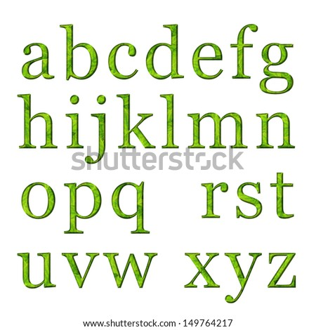 English letters on a white background - stock photo