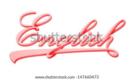 English on white. - stock photo