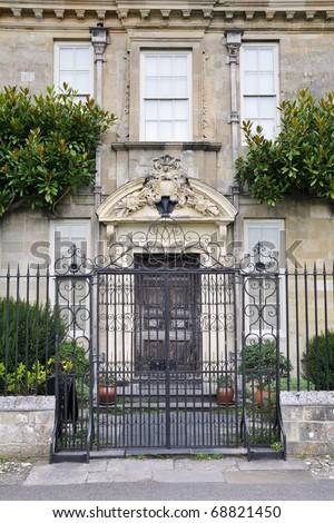 English Stately Home Exterior Built Circa 1720 - stock photo
