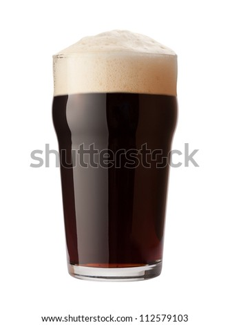 English Stout Isolated on white with a clipping path - stock photo