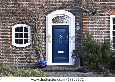 English style house - stock photo