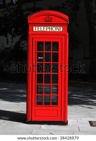 English telephone booth - stock photo