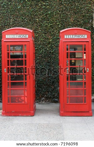 English telephone booths - stock photo