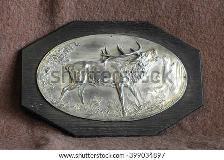 engraving deer - stock photo