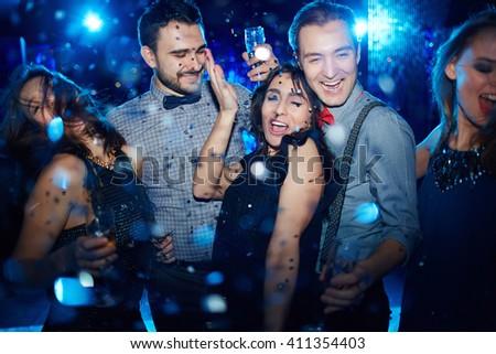 Enjoying party - stock photo