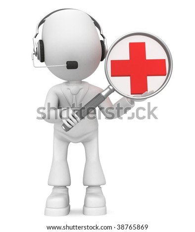 enlarge (headphones) - stock photo