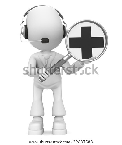 enlarge(headphones) - stock photo