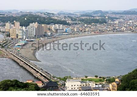 Enoshima view - stock photo